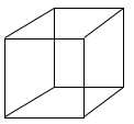 Fig. 1: le cube de Necker